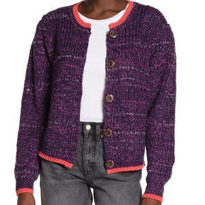 Free People Walk On By Snap Cardigan